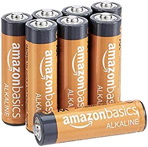 AmazonBasics AA Performance Alkaline Non-Rechargeable Batteries (8-Pack) - Appearance May Vary