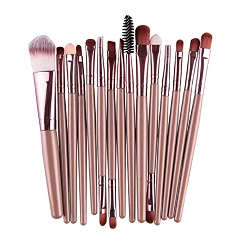 MRULIC 22pcs Make UP Pinsel Pinselset Schminkpinsel Kosmetikpinsel Kosmetik Brush (N-15Stück)