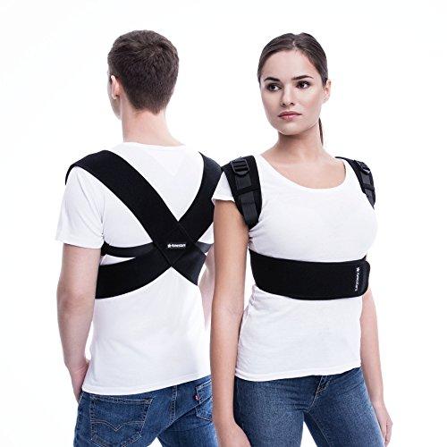 Corrector de Postura Ajustable para Hombres y Mujeres (Uso Médico): Inmovilizador de Clavícula para Soporte de Espalda - Corrección de Postura Y Hombros - Mejora Postura y Alivia Dolor (LGE 95-115 cm)