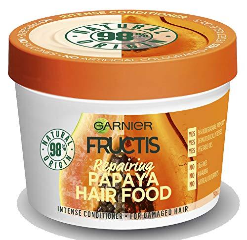 Fructis Hair Food Papaya 3-in-1-Maske mit Vegan-Formel für geschwärztes Haar - 390 ml (Garnier Fructis Maske)