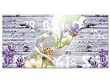 GRAZDesign 100399_001_01_04 Wandbild mit Holzoptik und Weißer Blüte | Blumenbilder für Wohnzimmer/Küche als Hochwertiges Kunstdruck aus Acrylglas (100x50cm)