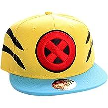 c9b1ec3ceb5af Marvel Wolverine Logo y Garra de Slash Snapback Cap (Amarillo Azul)