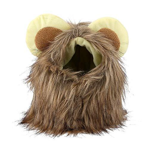 Kostüm Cooles Partei Themen - Pangding Lustiger Haustier-Hut, Halloween-Thema-Partei-Nette Löwe-Mähnen-Perücke-Herbst-Winter-Kappe für Haustier-Katzen-Welpen(L)