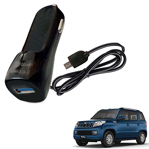 Vheelocityin Bluei 6 Month Warranty Car USB Charger Fast Charging USB Charger For Mahindra TUV 3OO