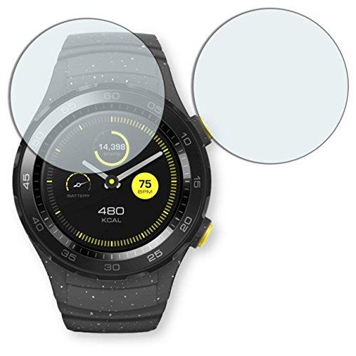 2x Golebo Semi-Matt protectores de pantalla para Huawei Watch 2 Classic - (efecto antirreflectante, montaje muy fácil, removible sin residuos)