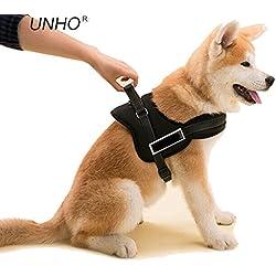 Unho®Arnés perro de Alta Robustez, Correa para perro Acolchada Cómodo Ajustable para perros grandes medianos, 5 tallas disponibles