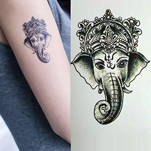 FCTGY temporäre Tätowierungen Vintage Tier Elefant Wassertransfer Tattoo Sticker Geschenke für Frauen Mädchen