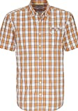 camel active Herren Kurzarmhemd Dustin B.D. Orange Gr. M, 436095 65