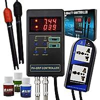 2 en 1 Controlador ORP de pH digital Relés separados Electrodo recargable Sonda de tipo BNC