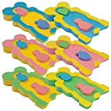 Baby Badeschwamm Sitzschwamm Badeunterlage Für Babys ab der Geburt Gr. MAXI - Zweifarbig (Blau-Gelb)
