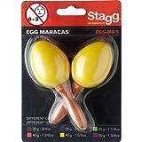 STAGG 1Paar Egg Maracas gelb