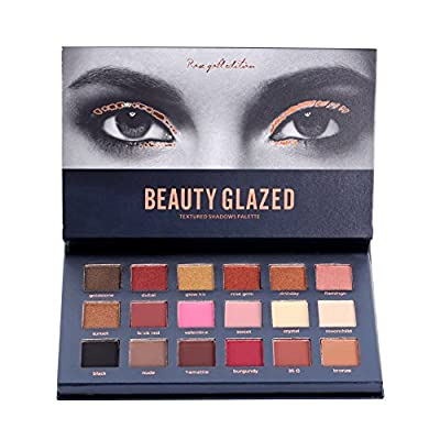 ROPALIA 18 Colors Eyeshadow Palette Matte Glitter Pigment Textured Eye Shadow Beauty Makeup from ROPALIA