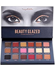 ROPALIA 18 Colors Eyeshadow Palette Matte Glitter Pigment Textured Eye Shadow Beauty Makeup