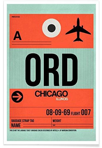 JUNIQE® Poster 20x30cm Städte Reise - Design