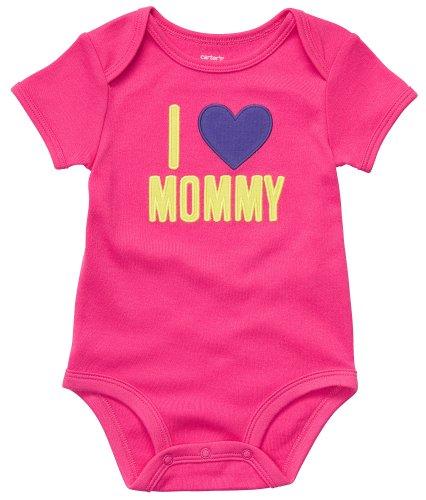 Carter's Body für Mädchen Sommer Spieler Unterwäsche girl onesie (3 Monate, pink) (Carters Body Onesies)