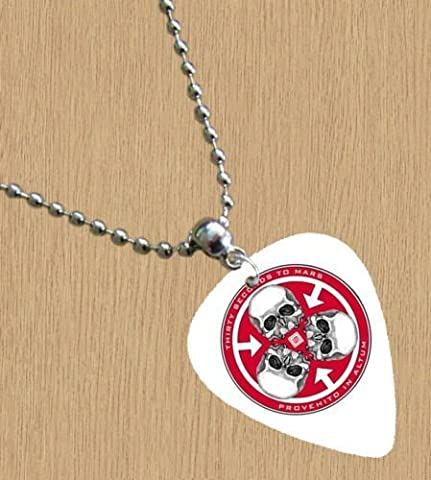 30 Seconds To Mars Collier Médiator Premium Blanc