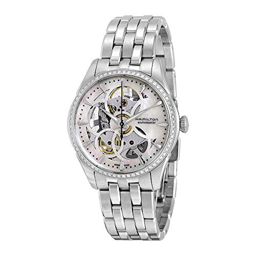 HAMILTON - Montre Femme Hamilton Jazzmaster Viewmatic Skeleton Lady Diamants h42405191 Bracelet Acie1 - H42405191