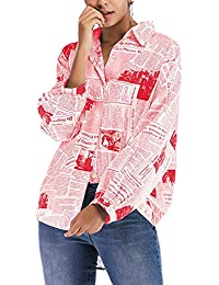 Camisas Camisetas Y De Tops Rojo es Amazon Abajo Blusas Ww7YT7Uq