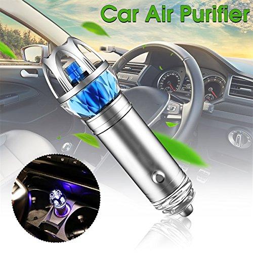 Pictech - Adaptador de purificador de aire para coche con iones negativos – Dimensiones 31 mm x 100 mm – 1 purificador de aire para coche