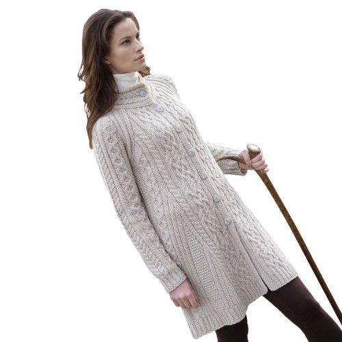 100% Merino Wool Flared Coat Parsnip