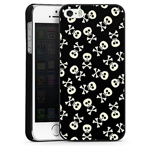 Apple iPhone 4 Housse Étui Silicone Coque Protection Tête de mort Crâne Noir et blanc CasDur noir