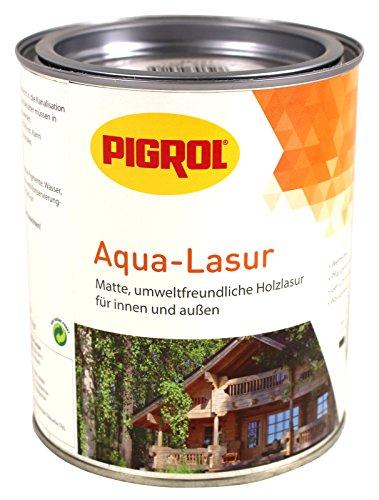 Pigrol Aqua Lasur 0,75L teak umweltfreundliche Holzlasur für innen und aussen