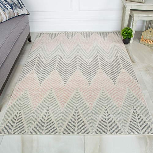 The Rug House Alfombra Geométrica Chevron Zigzag