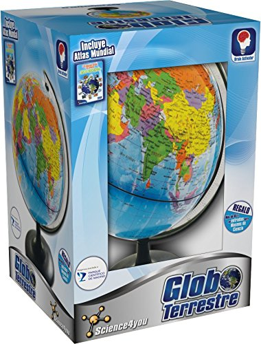 Science4you-398788 Globo terrestre y Atlas Mundial, Juguete Stem (398788