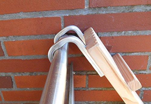 1 Meter! Katzenleiter / Katzentreppe für Balkon, Katzenmöbel, Mit Haken! Douglasie (3101a)