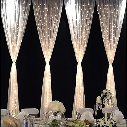 Led Fenster Vorhang Sterne Licht, Curtain Star Fairy String Lampe Geeignet Für Schlafzimmer Wohnzimmer Weihnachtsbaum Dekor Hochzeit Garten Party Indoor Und Outdoor