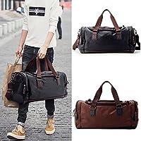 BaBaSM Praktisch Handtasche 49x22x25cm PU Leder Outdoor Sports Tasche Portable Camping Handtaschen Reisetasche für Gym Fitness