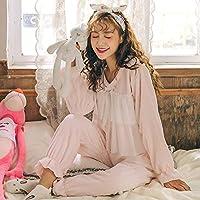 ASCZKYG Pigiama invernale invernale da Donna servizio di casa può Essere indossato all'esterno del Set principessa, XXL