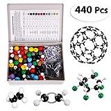 Sumnacon 440pcs Modèle Moléculaire de Chimie Organique et Inorganique pour Apprendre ou Enseigner la Chimie Scientifique avec Une Boîte de Rangement
