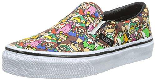 Vans Classic Slip-On, Scarpe da Ginnastica Basse Unisex - Bambini, Multicolore ((Nintendo) Super Mario Bros/Multi), 30 EU
