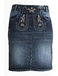 Trachtenamazonen Damen Jeansrock, Trachtenrock, Modell Safir