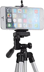 AnyTech Flexible 4 Sections 105 cm Monopod Camera Tripod + Mobile Phone Holder Tripod Mount Holder with Tripod Carrying Bag Pattern#74
