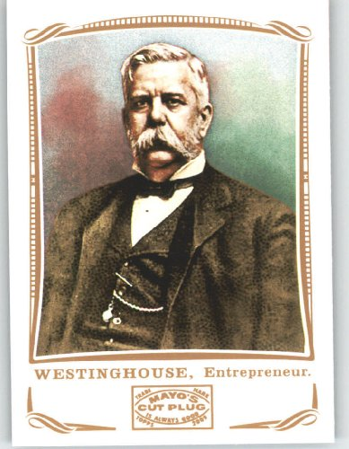 george-westinghouse-entrepreneur-2009-topps-mayo-football-card-104-nfl-trading-card-in