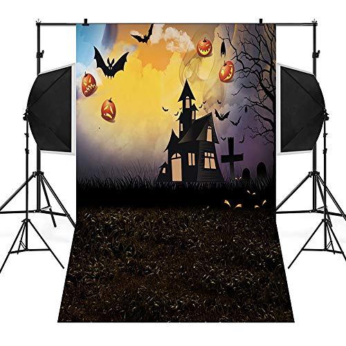 Allegorly Halloween 3D Studio Hintergrundtuch Backdrops Muster Hintergrund Fotografie Studio Fotografie Hintergrund Gemälde Vinyl Laterne Foto Stoffhintergrund -