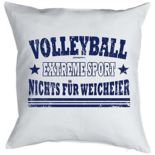 Volleyball Extreme Sport - Nichts für Weicheier! Kissen komplett mit Füllung, Sofakissen, Dekokissen, Sofakissen