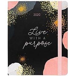 Erik® - Agenda Premium con Planner Settimanale 2019/2020, 17 mesi, 16,5x20 cm - Glitter Gold Dreams