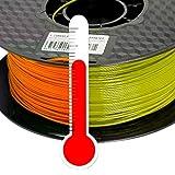 PLA 3D Drucker Filament 1,75mm Farbwechsel Temp. Orange zu Gelb