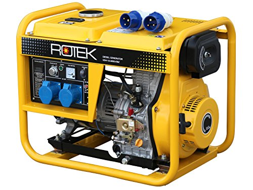Rotek Diesel Stromerzeuger GD4-1A-6000-EBZ (6,0 kVA / 5,0kW 230V 50Hz 1-phasig) -