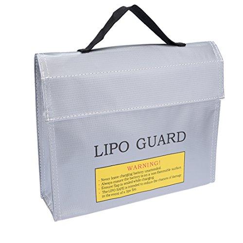 sourcingmap® Lipo Akku feuerfeste Tasche Speicher Schutz sicher Lade Halter 240mmx65mmx180mm