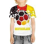 BesserBay Kinder Deutschland Fan Tshirt Weltmeisterschaft 2018 Fußball Trikot U1109 122/128