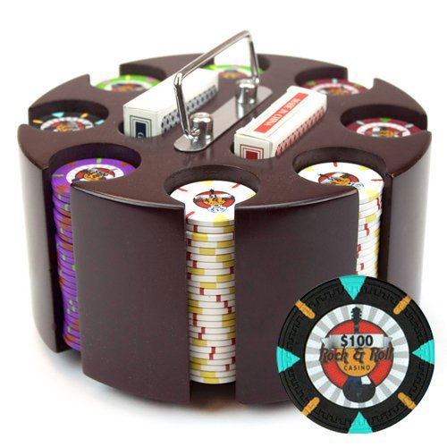 claysmith Gaming reinen 'Rock & Roll' Poker Chip Set in Holz Karussell, 13,5GM