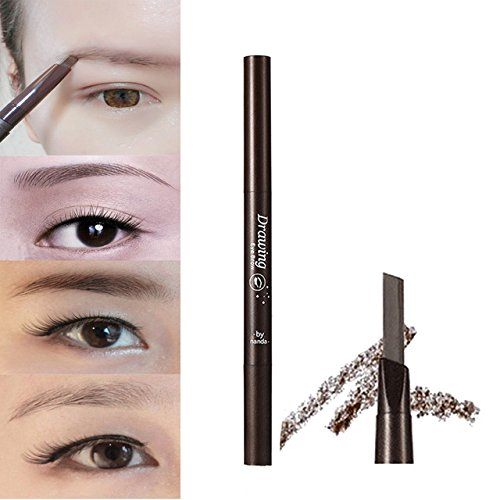 Generic Dark Brown: 2016 New Arrival Professional Women' s Fashion Stylish Soft Makeup Cosmetic Autorotation Eye Liner Eyebrow Pencil Beauty Tools