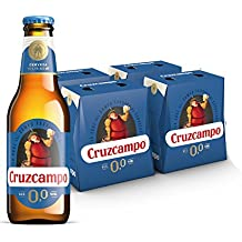 Cruzcampo 00 Cerveza - 4 Packs de 6 x Botellas 250 ml - Total: 6