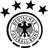 TENNER.LONDON Tenner. mit Deutschland-Wappen Schild Eisen auf Leinwand Stoff-Applikation Waschbar (Deutsch