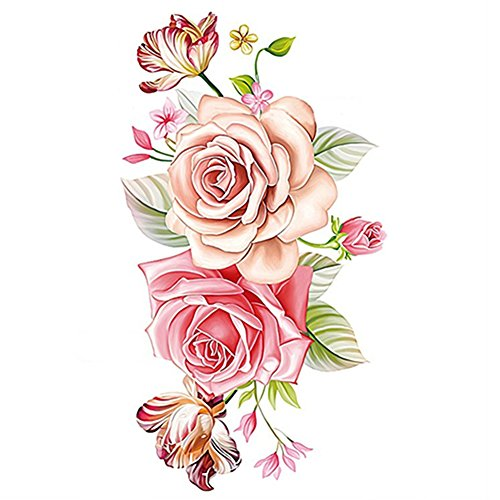 bluelansr-womens-beautiful-peony-flower-temporary-tattoos-stickers-body-art-waterproof