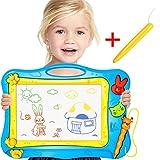 Gekritzel-magnetisches Reißbrett + Bonus-Stift für Kind-Reise-Magie löschbares farbiges Schreiben / Entwurf / Skizze-Auflage-Spielwaren mit 2 Formstempeln, Vorschule lernen und pädagogisches Spielzeug